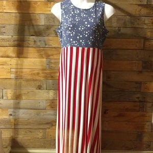 Acting Pro American flag dress - NEW